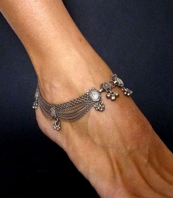Rajasthan ethnic anklet from India - belly dance jewellery - jewellery from Rajasthan - Rajasthan anklet - ethnic - tribal on Etsy, $300.10