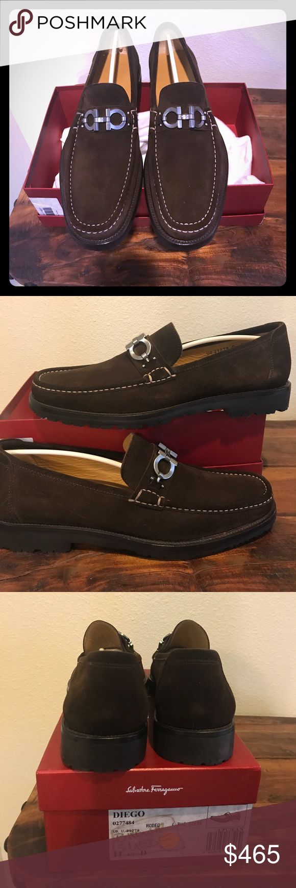 Ferragamo Men's Shoes Size 11.5 Men's Brown Suede loafers. Worn once for maybe an hour or so. Too narrow for my feet. Excellent condition!! Salvatore Ferragamo Shoes Loafers & Slip-Ons