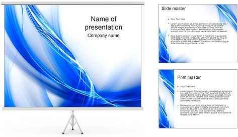 Blue résumé des vagues Modèles des présentations  PowerPoint