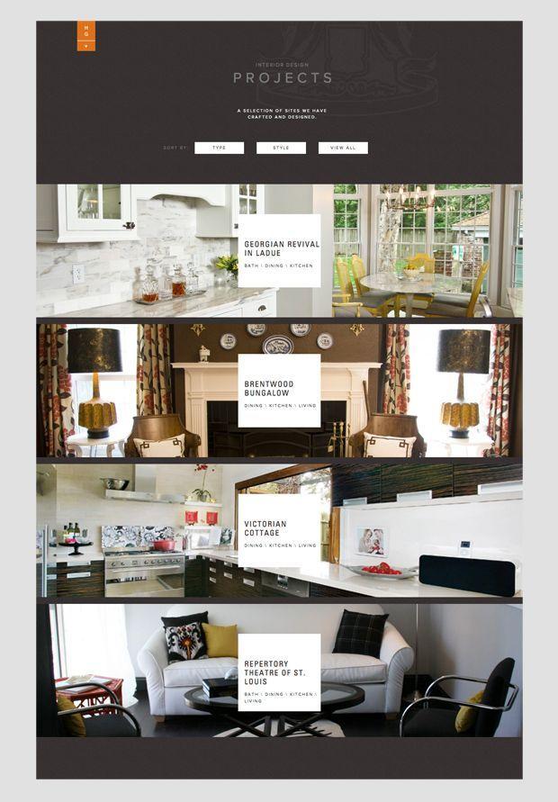 Web site design for Hip + Gable Interior Design Firm