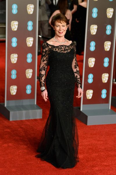 Celia Imrie attends the EE British Academy Film Awards (BAFTA) held at Royal Albert Hall on February 18, 2018 in London, England.
