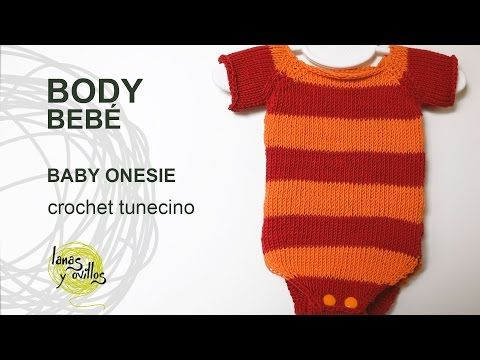 ‪Tutorial Body Bebé Crochet Tunecino Punto Jersey‬‏ - YouTube