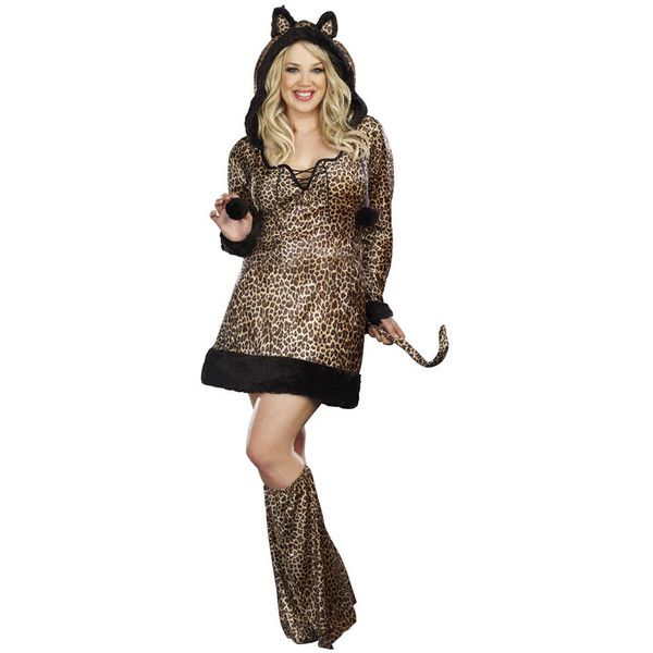 Dream Girl Women's Plus Size 'Cheetah-Luscious' 2-piece Dress Costume ($37) ❤ liked on Polyvore featuring costumes, leopard, plus size, adult cheetah costume, plus size womens halloween costumes, ladies halloween costumes, leopard costume and plus size halloween costumes