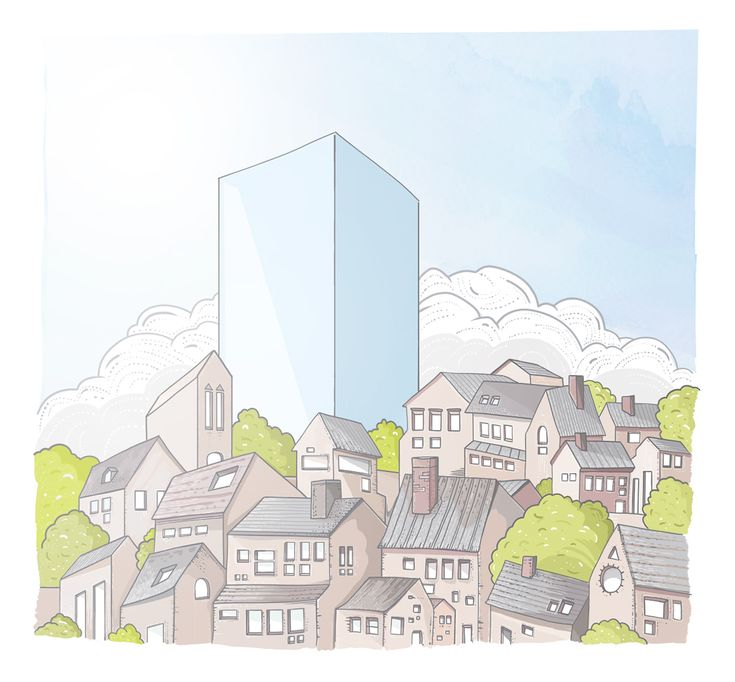 Ves #illustration #abstract #vokovice #village #sunny