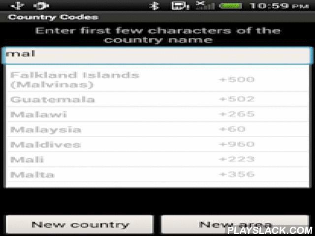 Country Codes Ad  Android App - playslack.com ,  Sometimes you need to call to different countries for work or leisure. This app provides a quick way to get to the different country code for dialing purposes. You use it to search and then tap the item and the default phone dialer app will be launched with the country code you have selected pre-filled in. This app also does not require any Internet connection so it is useful for users who live in areas where Internet connectivity is poor or…