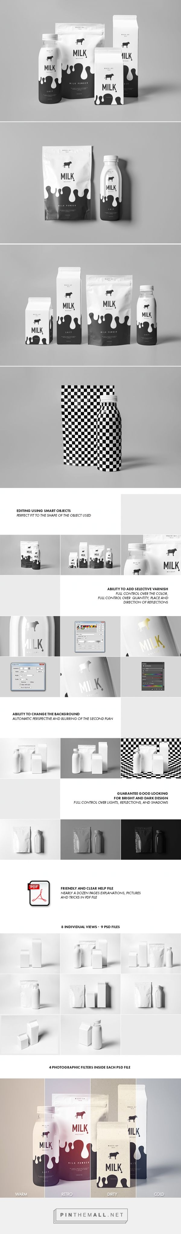Milk Mock-up on Behance by yogurt86 Design Studio curated by Packaging Diva PD. Love it packaging and hope it becomes real : )