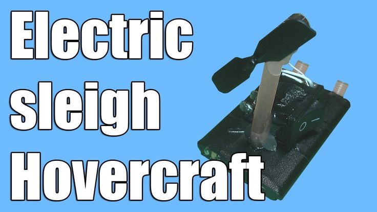 How to make a mini Electric sleigh Hovercraft