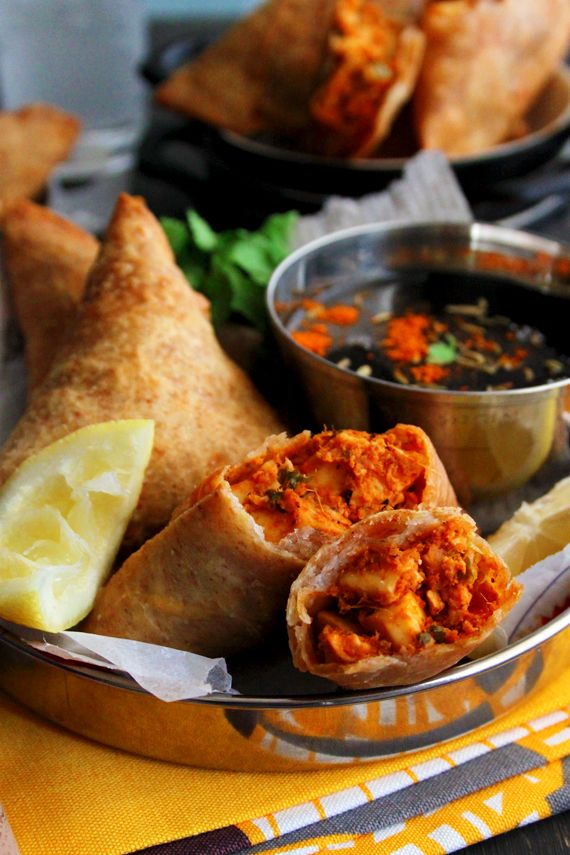 Tandoori Paneer Samosas (Filling Recipe - Split in half!)...obviously, I'm craving samose