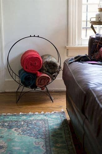 Ideen für die Aufbewahrung von Wohnzimmerdecken #CheapHomeDecorCountry,