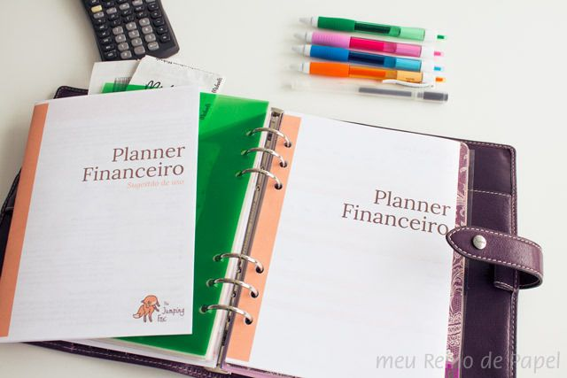planner financeiro como organizar financas filofax kikkik daiso fichário