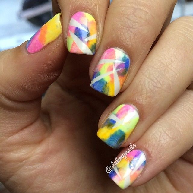 749 Best Images About Blue And Yellow Color Nails On