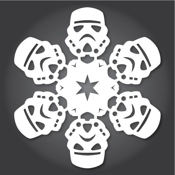 Got some paper, a pair of scissors, and a whole lot of time to kill? Of course you do, it's the holidays! And now we have the perfect project for all of those things: Make Star Wars snowflakes.