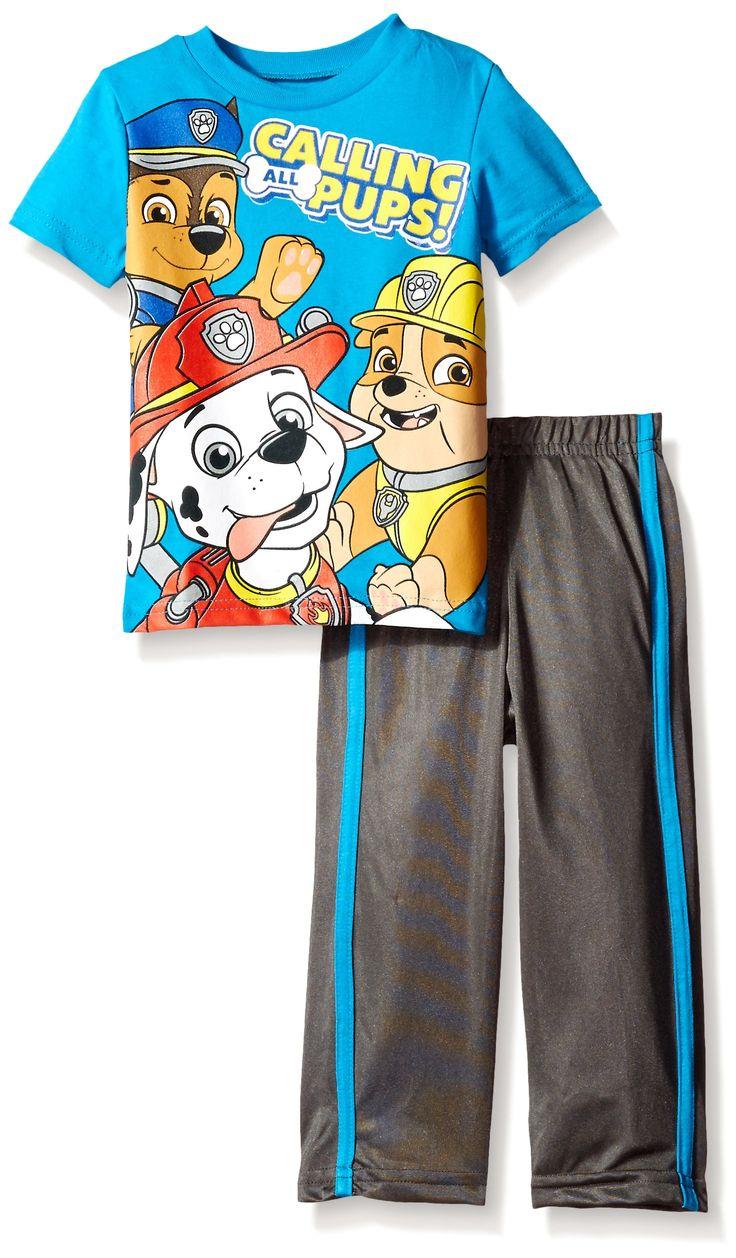Amazon.com: Paw Patrol Boys' Tricot Pant Set and Tee: Clothing
