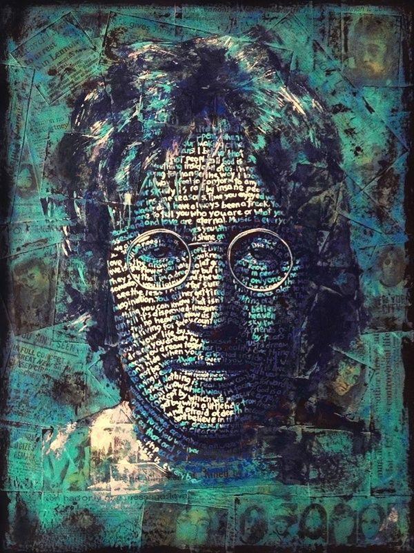 Typography Portrait Series - John Lennon by cris wicks, via Behance