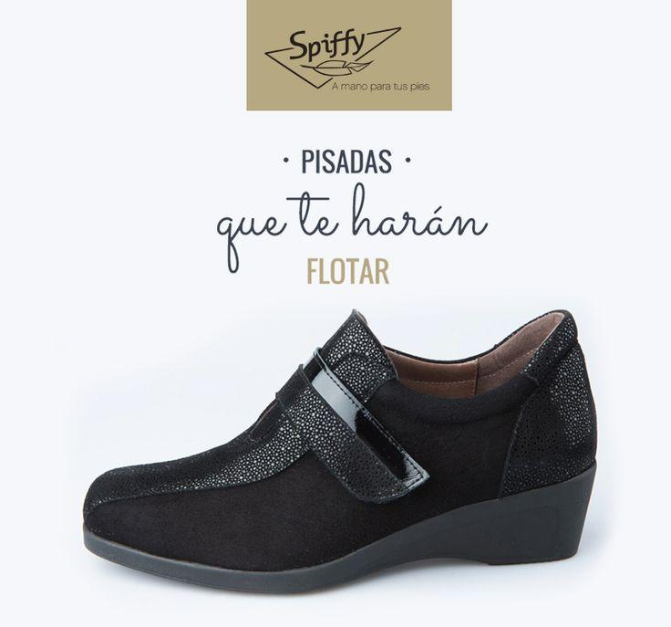 Pisadas que te harán flotar. Compra aquí ➡ http://bit.ly/spvelcro  #SPIFFY #Zapatos #madeinspain