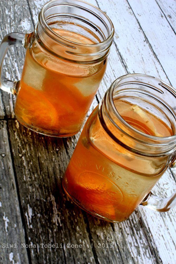 orange infused water