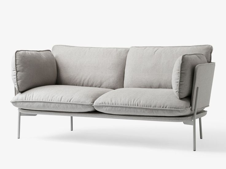 The &Tradition Cloud Two Seater Sofa is perfectly suited for contemporary living spaces, as it provides maximum comfort within compact dimensions.