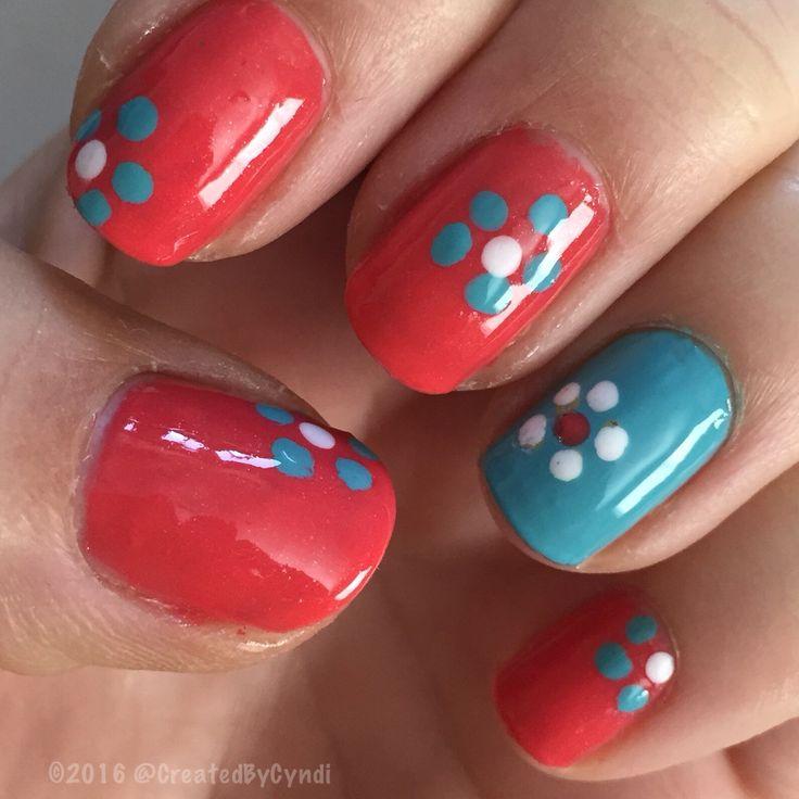 Bring it on, Springtime  themed mani ⏱⏲⏰⏱⏲⏰⏱⏲⏰ change clocks FORWARD 1 hour this wknd  ⏱⏲⏰⏱⏲⏰⏱⏲⏰ #DIY #NailArt #nail #nails  #nofilter #accentnail #march #spring #2016  #everydayzoya Top coat: #glistenandglow_hkgirl #zoya_SundayFunday  #zoya_InTheCab-ana  #daisies #dottingtools