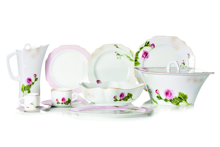 Floral Rose | 2015 DINNERWARE Collections - 84 Piece Dinner Set, 56 Piece Dinner Set, 44 Piece Dinner Set, 13 Piece Tea Set, 13 Piece coffee Set #dinnerware #porcelain #limogespaste #portuguese #GAHomeStyle