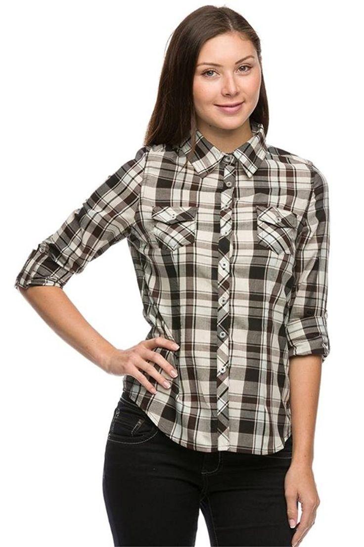 women's button down dress shirts amazon