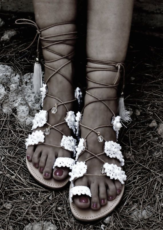 Wedding sandals/ Gladiator sandals/ bridal leather by magosisters