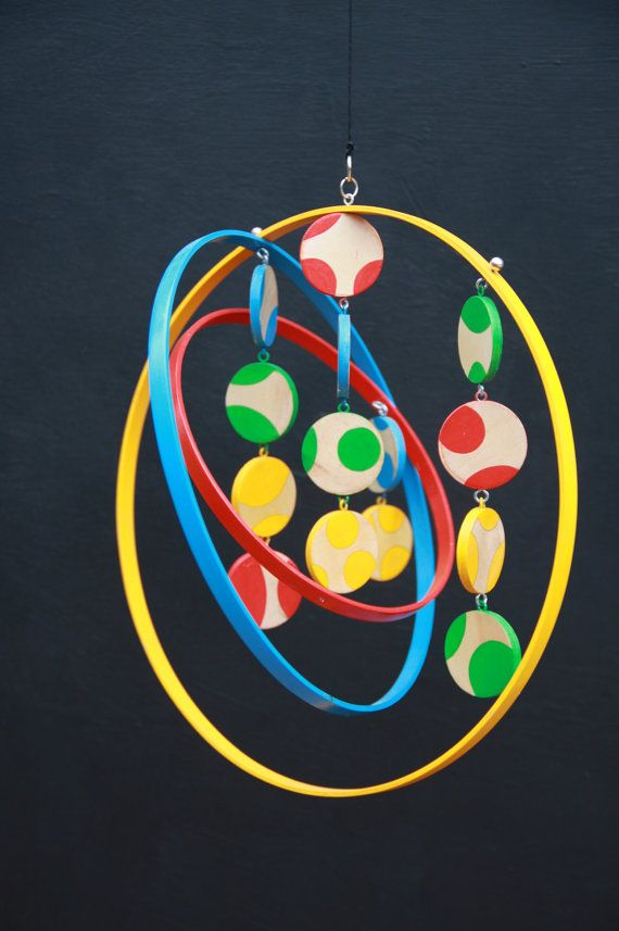 Modern hanging mobile children baby. by ScoutandWander on Etsy