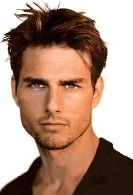 Tom Cruise - even though everyone thinks he's nuts. You cannot deny the blue eyes and dark hair - just like my hubby!