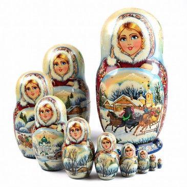 Матрешка - Зимняя тройка красоты