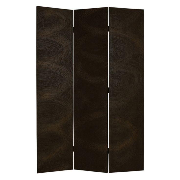 Screen Gems 3 Panel Barreta Room Divider in Black and Gold Sand Finish - SG-79B