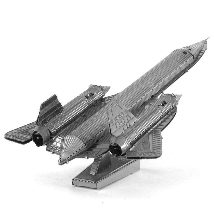 Sr 71 Blackbird Spy Plane Airplane Fun 3D Metal DIY Miniature Model Kits Puzzle Toys Children Educational Boy Splicing Science //Price: $19.77 & FREE Shipping //     #Brickweapon #Toysforboys #Legoguns #Guns #Toys #Brickarms #Fun #Brickwarriors #Rifles #Shotguns #Gifts