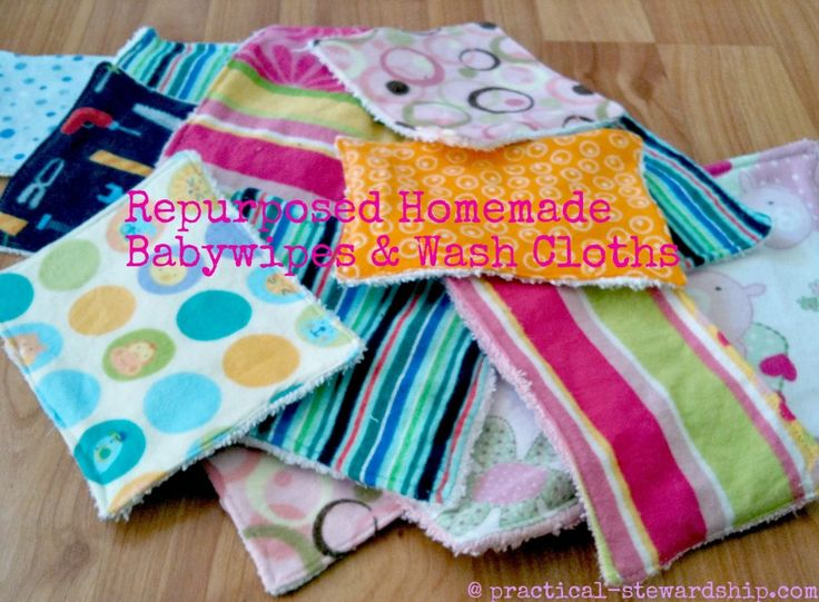 Reusuable Cloth Baby Wipes or Wash Cloths-Cute, Frugal, Easy DIY Gift!