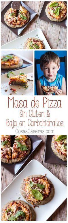 Esta receta de masa de pizza sin gluten ni cereales se puede tomar incluso en el dieta paleo. Es fácil de hacer, deliciosa, y baja en carbohidratos.