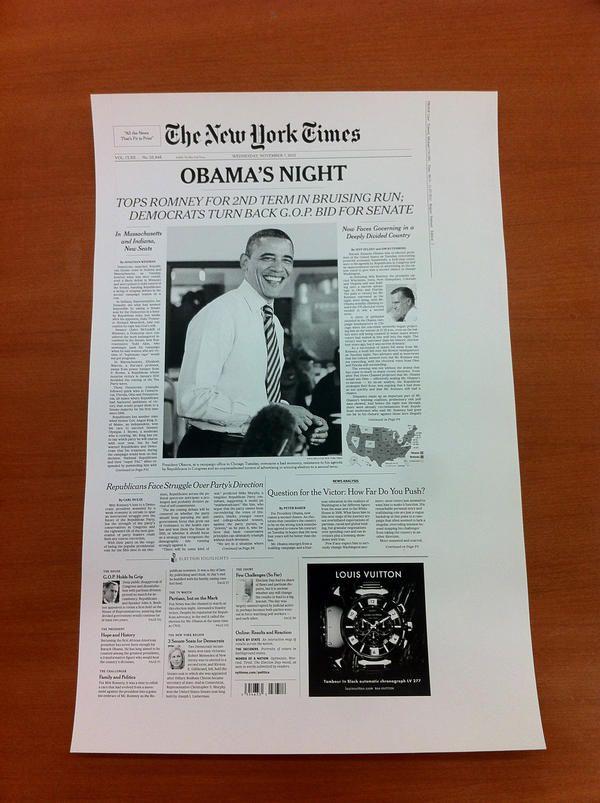 Prima pagina The NY Times