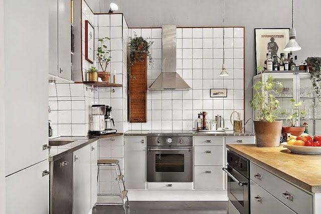 A cool vintage inspired space in Stockholm. Fastighetsbyrån.