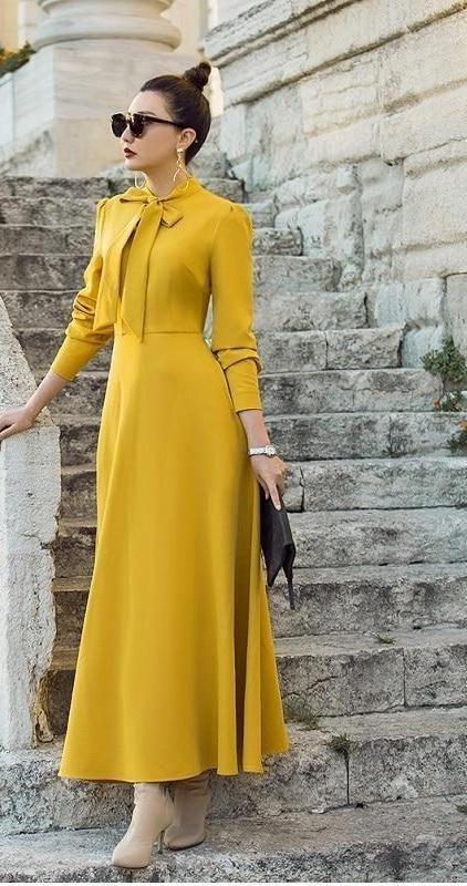 Bow Tie Elegant Long Dress In 2019 Boutique Wear