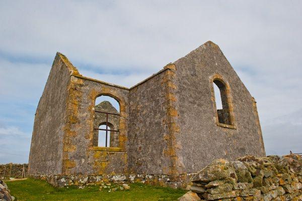Isle of Berneray - Thomas Telford Church on Berneray (now restored)