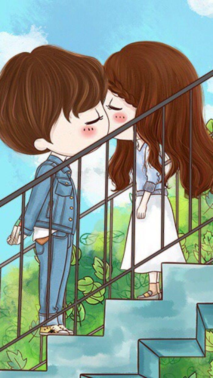 小薇的世界光 插画 壁纸 情侣