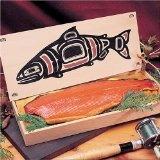 SeaBear Smoked Wild Sockeye Salmon 1 lb Fillet in Totem Gift Box