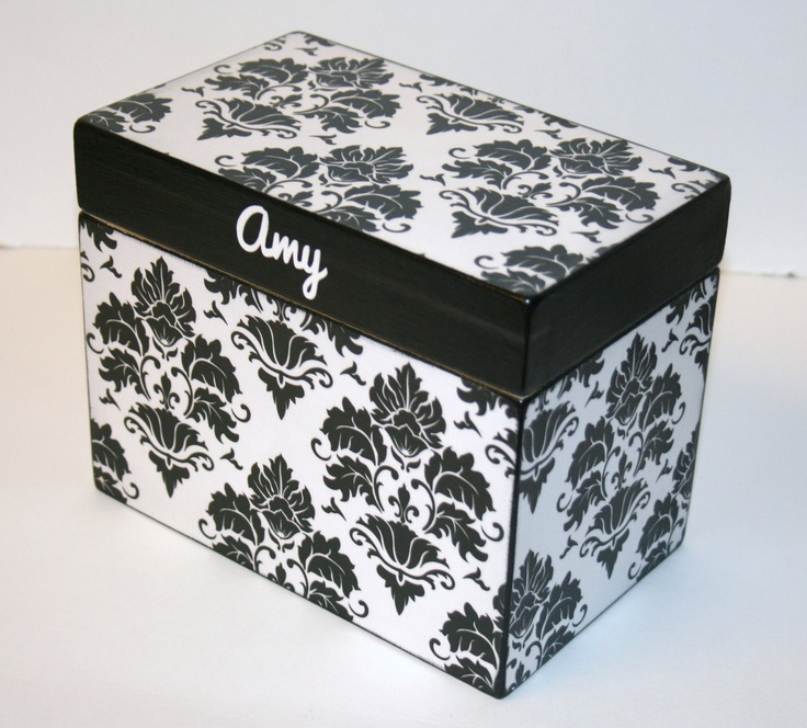 Decorative Recipe Box 2: Recipe Box, 4x6 Wooden Recipe Box, 4 X 6 Card Box, Custom
