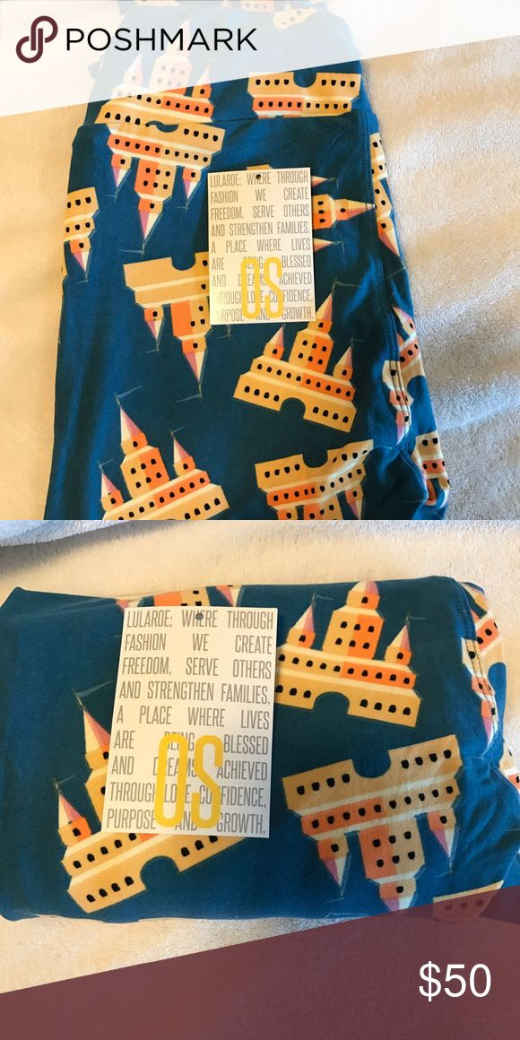 NWT OS Castle Leggings! 🦄 Unicorn! New with tags, OS Lularoe castle leggings - perfect for Disney! Never washed or worn. LuLaRoe Pants Leggings