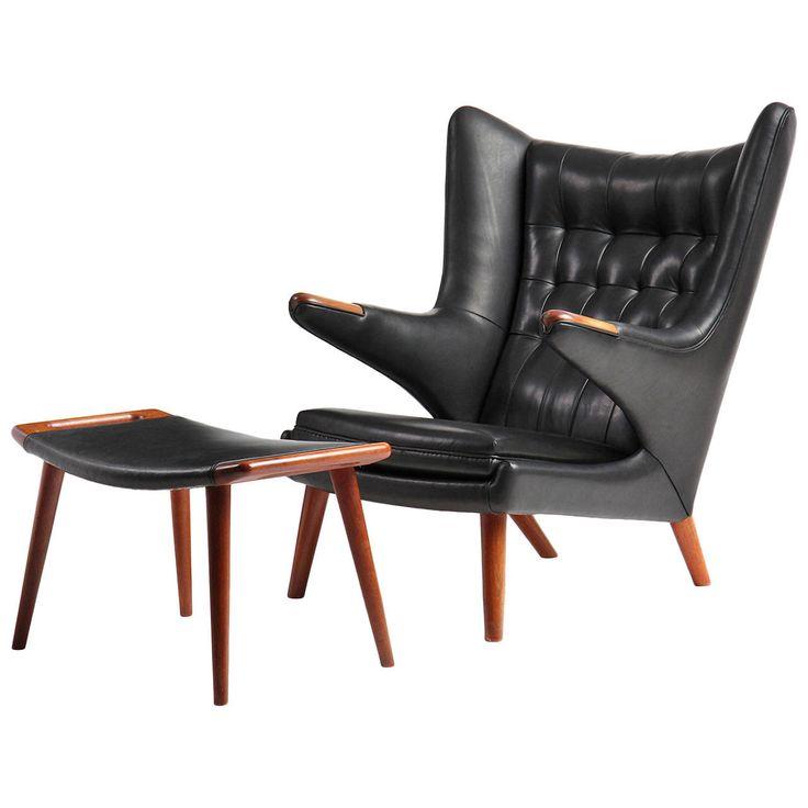 25 b sta chair and ottoman id erna p pinterest - Rechthoekige lederen pouf ...