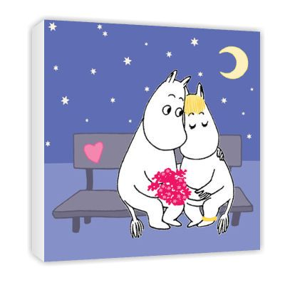 Moomins in Love Canvas by Tove Jansson   on StarEditions.com - Wholesale Prints and Gifts