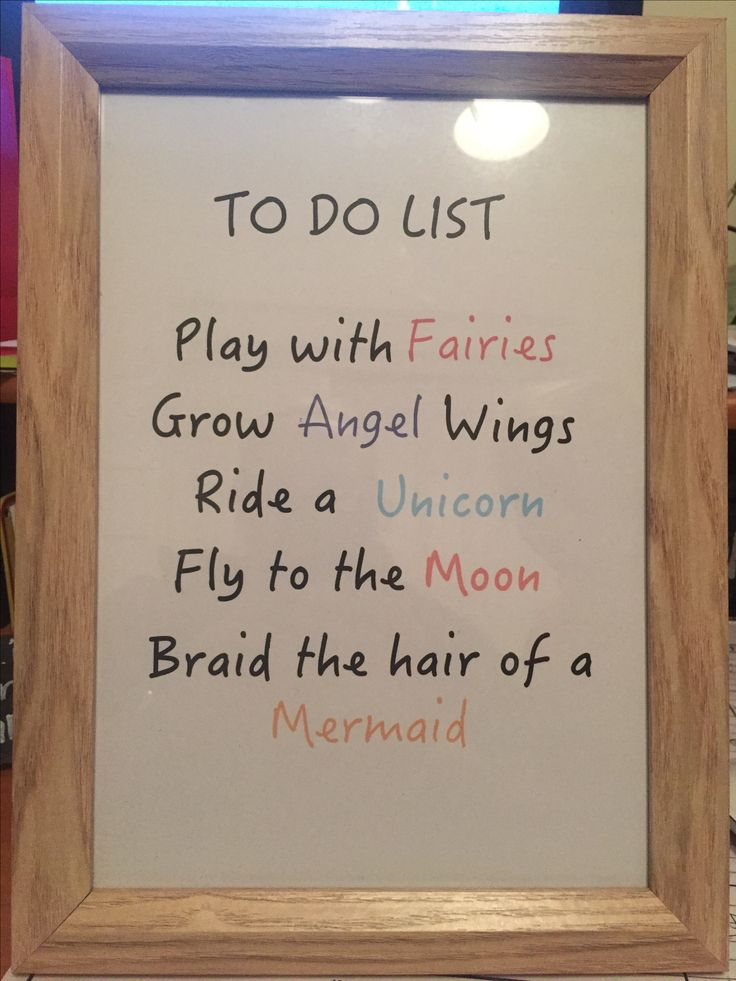 To do list can be changed to custom your little one.