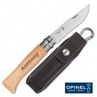 Couteau Opinel N°08 inox personnalisable avec Etui
