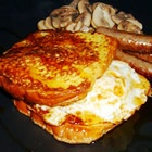 French egg and bacon sandwich