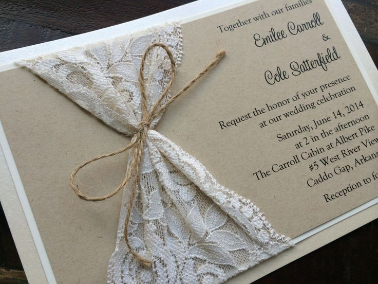 Lace and Twine Invitation - Josephine
