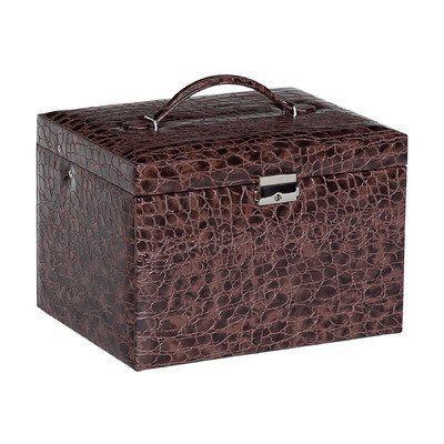 Dahlia Drop Front Locking Jewelry Box