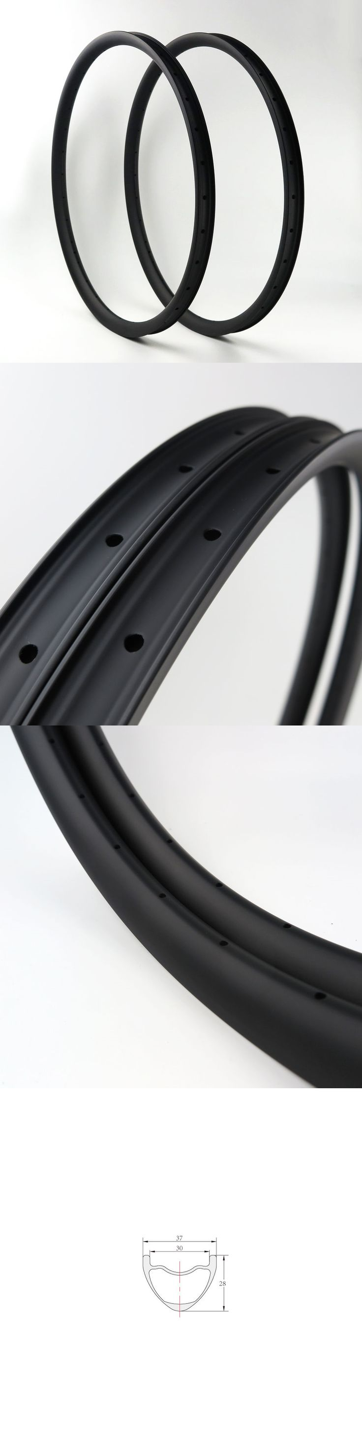 Rims 177821: Promotion Stock Nextie 37Mm Carbon 27.5 Mtb Clincher Bicycle Rim Tubeless 1Pair -> BUY IT NOW ONLY: $279 on eBay!
