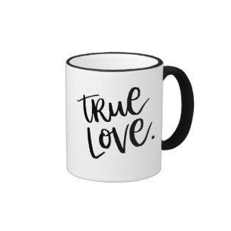 True Love. Bold Mug - stylish decor black and white typography