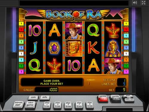 #Book of #Ra slots must be the most famous all over the world. This simple but fun and intense slot is today the most searched and played. Although there are plenty of slots themed after the ancient culture of Egypt, it's Novomatic's Book of Ra that took off immediately as soon as it was released and now has thousands of fans.